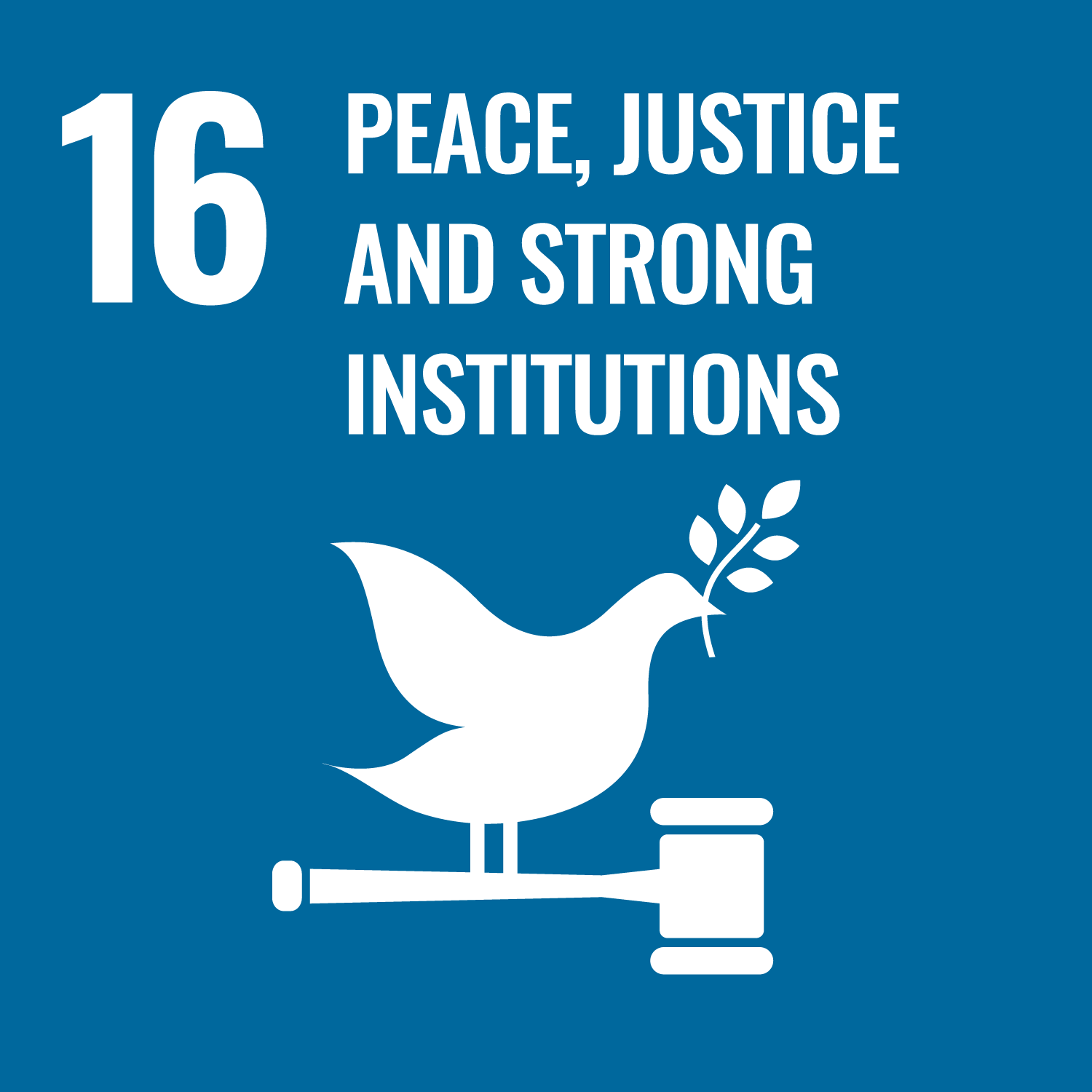 SDG 16 - Peace, Injustice and Strong Institutions