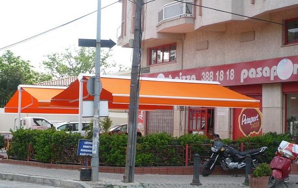 mái hiên hình chữ A di động tại Hà Nội