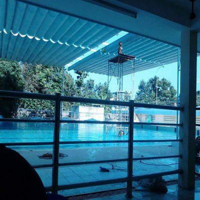 mái hiên xếp di động bể bơi Hà Nội