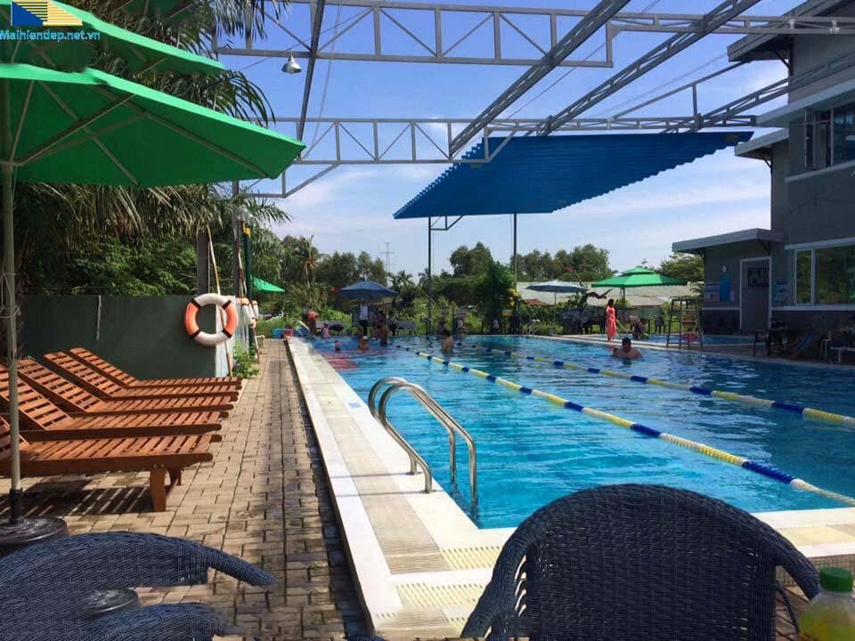 mẫu mái xếp di động hồ bơi Đồng Nai