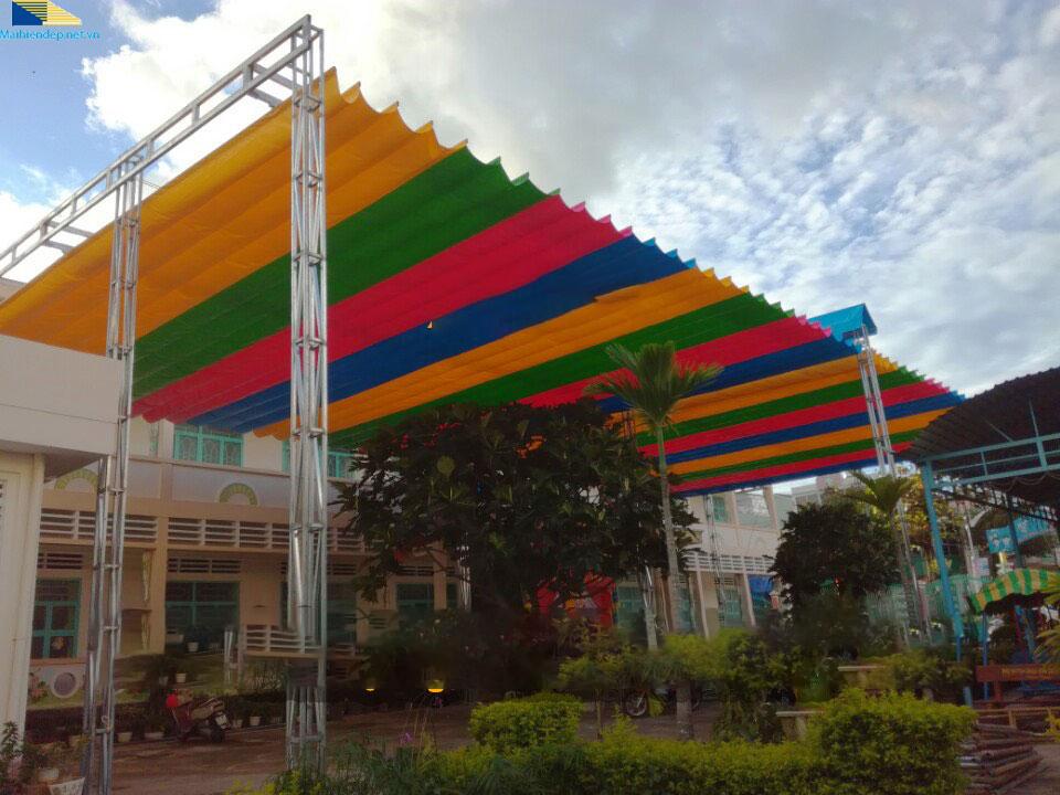 mẫu mái xếp di động sân trường Đà Nẵng