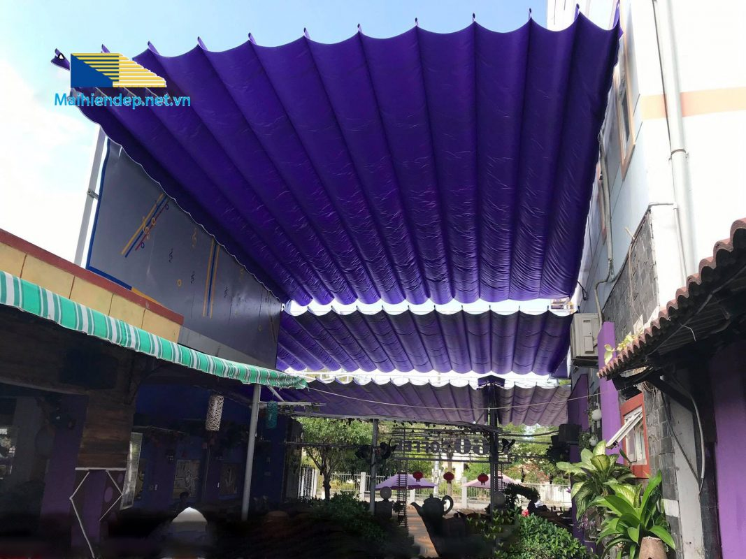 mẫu mái xếp di động cho nhà hàng Đà Nẵng