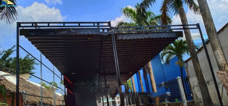 mẫu mái xếp di động hồ bơi Đà Nẵng