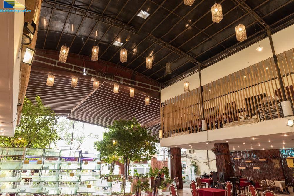 mẫu mái xếp di động quán cafe Đà Nẵng