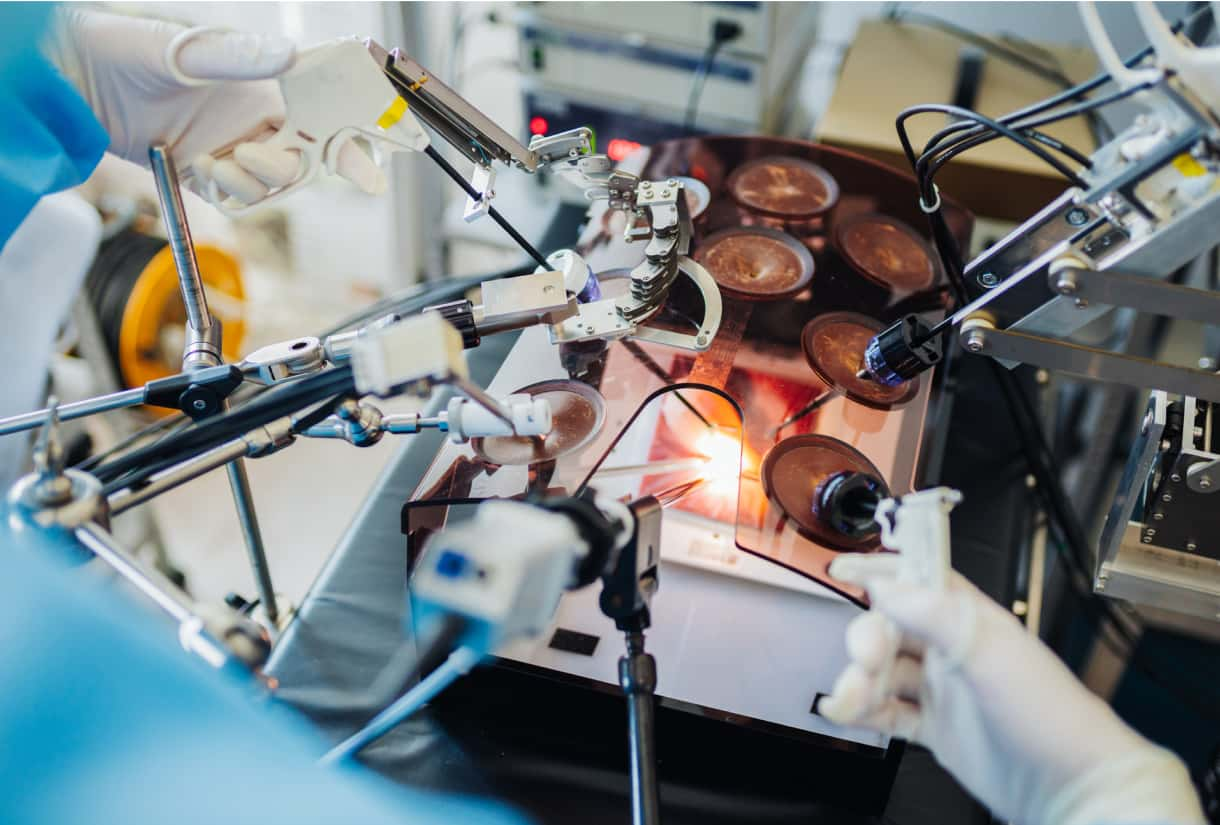 Image of advanced, robotics-enabled surgery being performed.