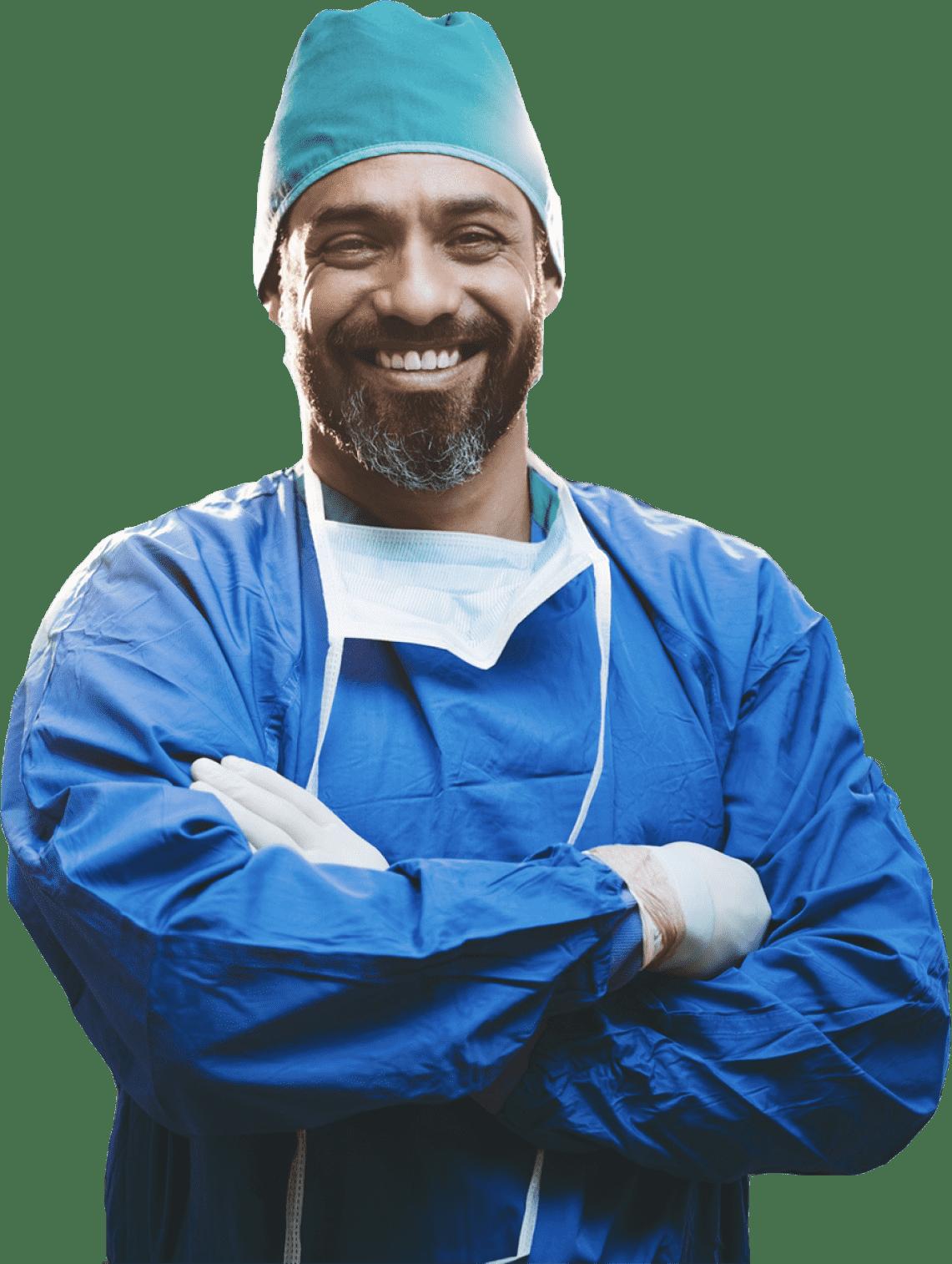 Image of male surgeon.