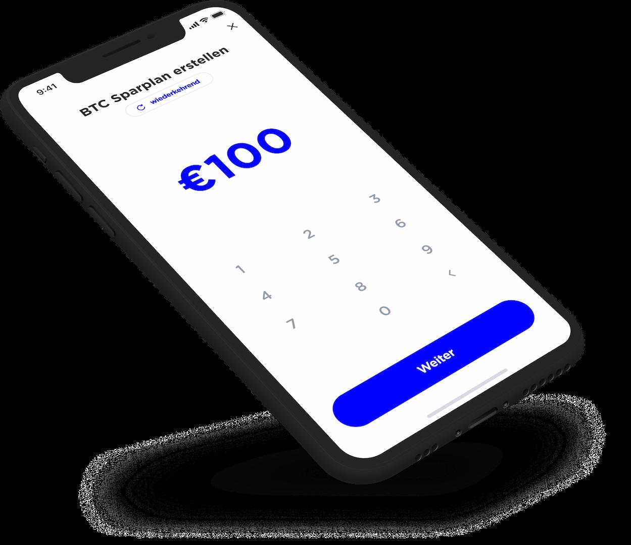 Savings Plan Screen Mockup