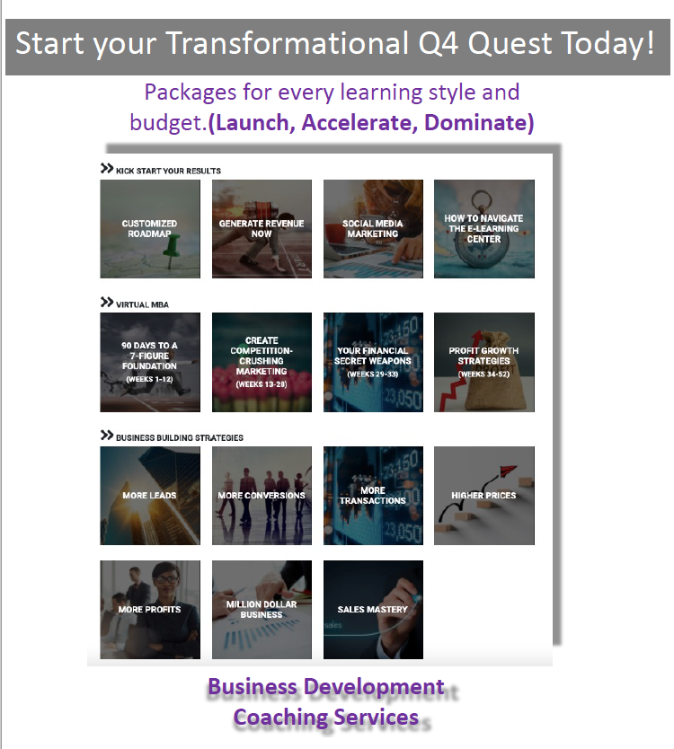 Start your Transformational q4 Quest Today