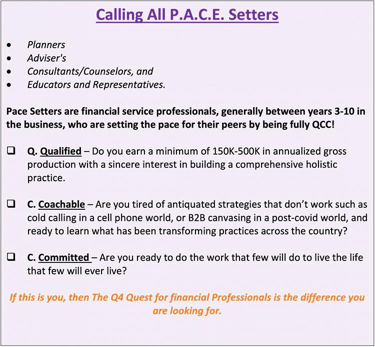 Calling All P.A.C.E. Setters