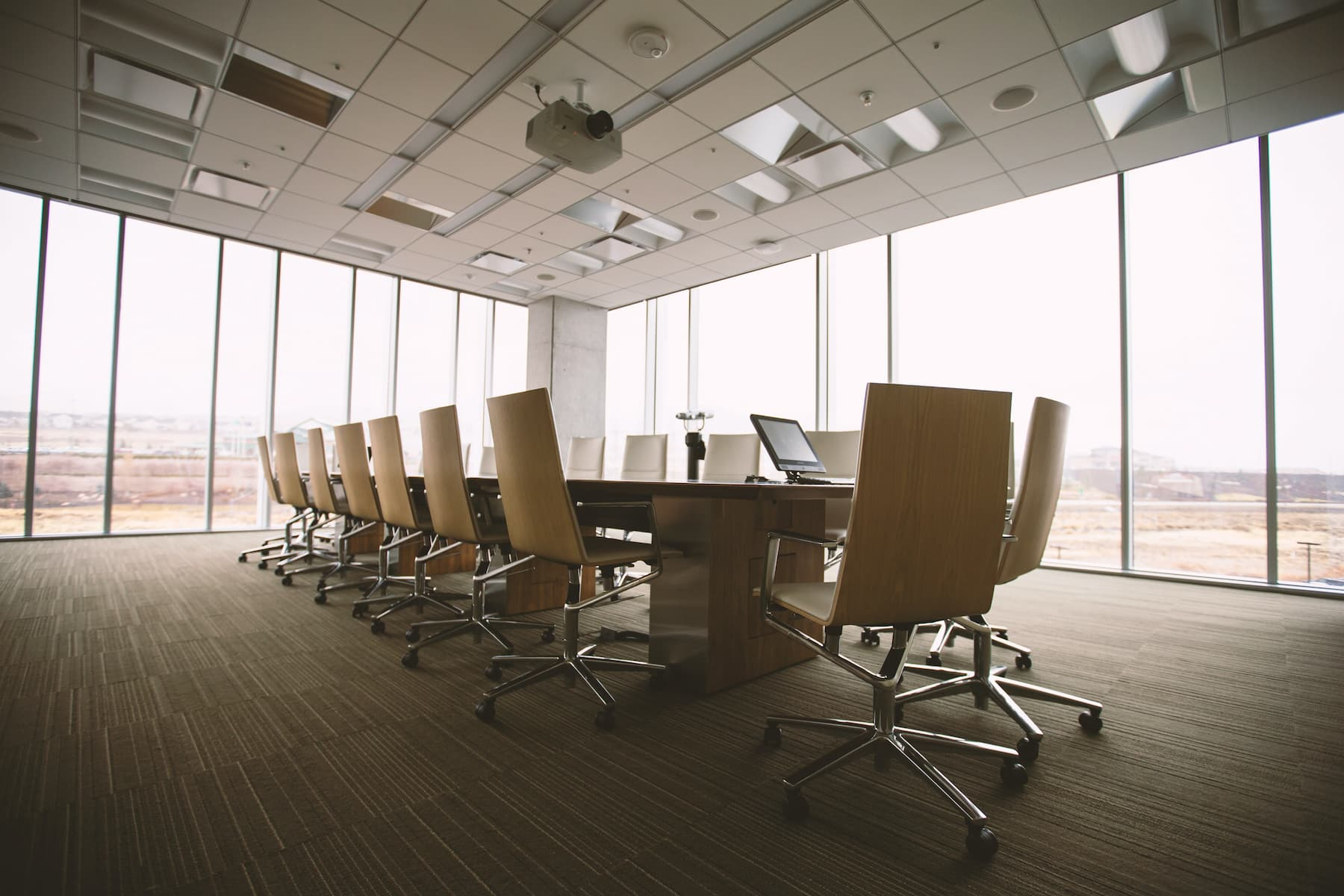 Boardroom where employer and employees would meet