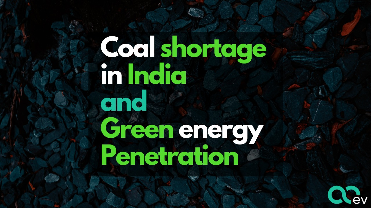 Coal shortage in India and green energy penetration