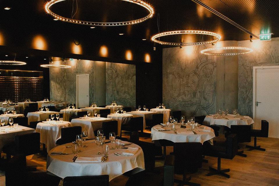 Wine bar with modern interior