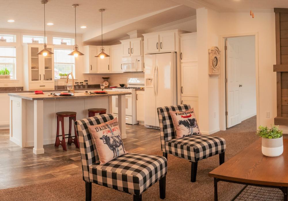Prestige 56 living room into kitchen