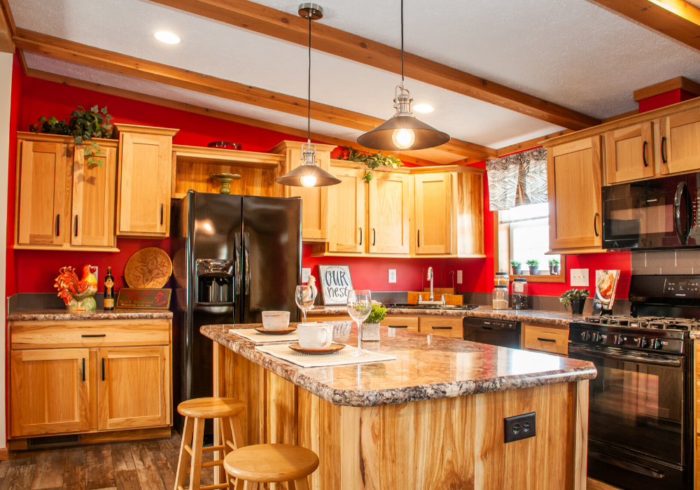 Whitetail II wood accent kitchen
