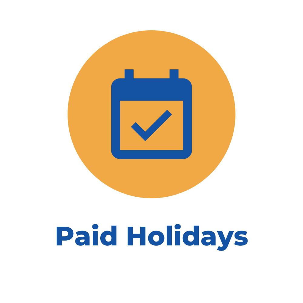 paid holidays