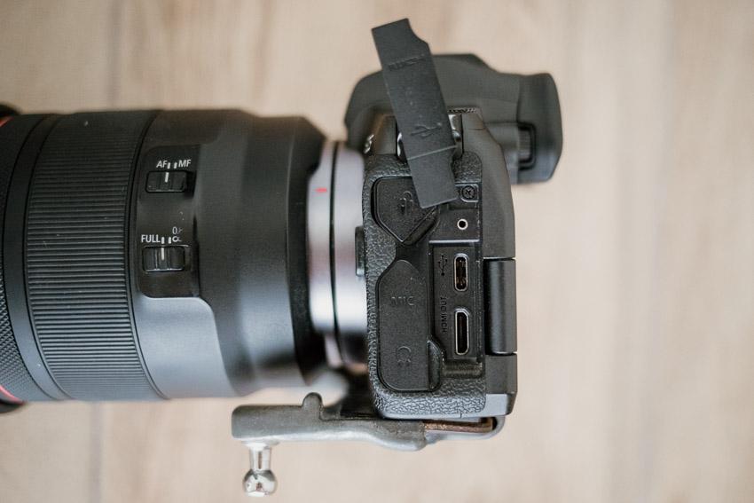 hdmi output on canon eos r camera