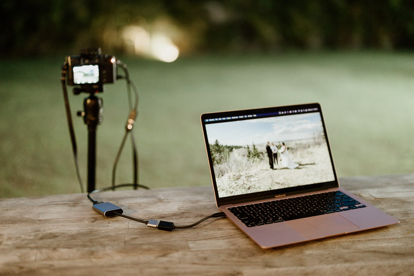 live streaming gear for videographers - camera laptop and capture card