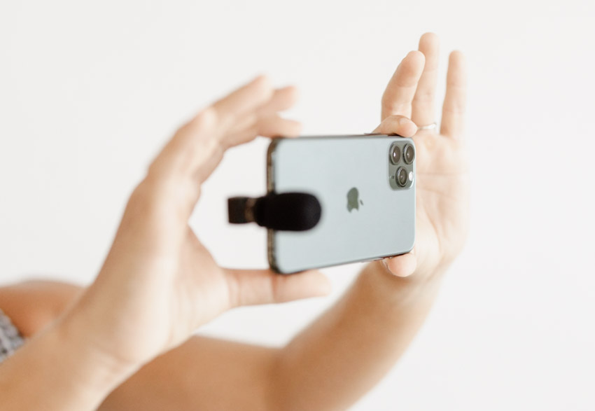 live stream using your iphone and a microphone