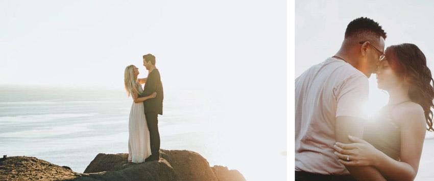 micro wedding by the ocean