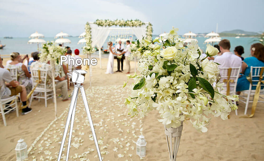 live streaming camera placement during a ceremony