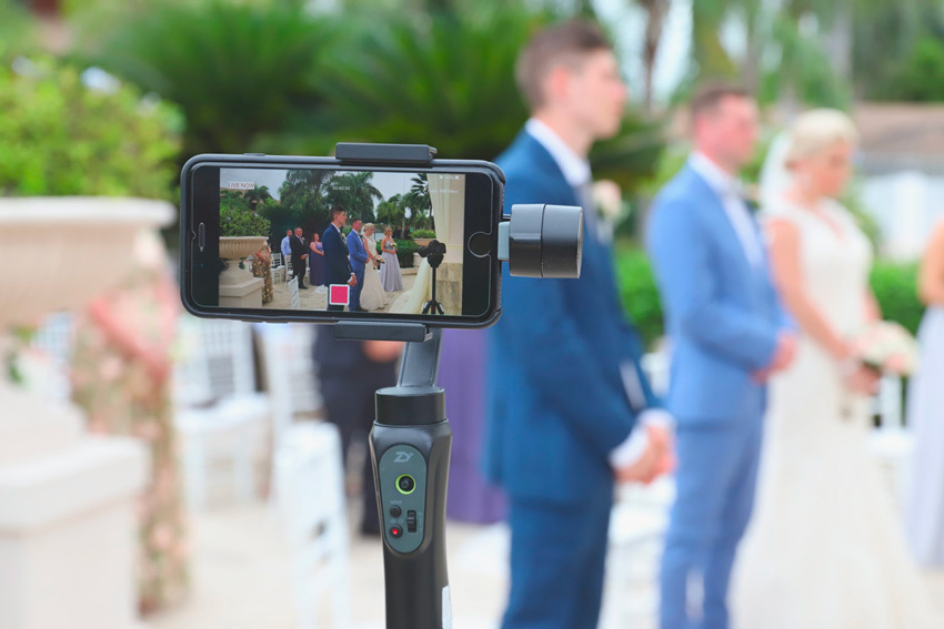 phone live streaming a wedding