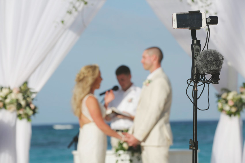 audio solutions for live streaming a wedding
