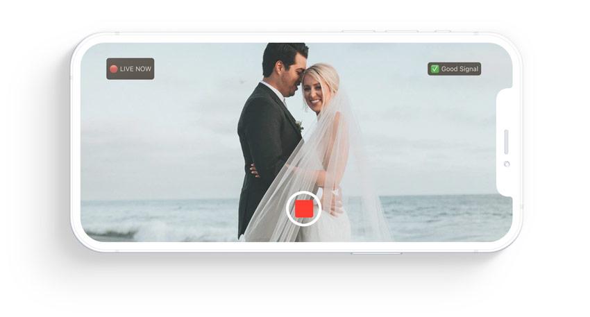 eventlive wedding live stream on iphone