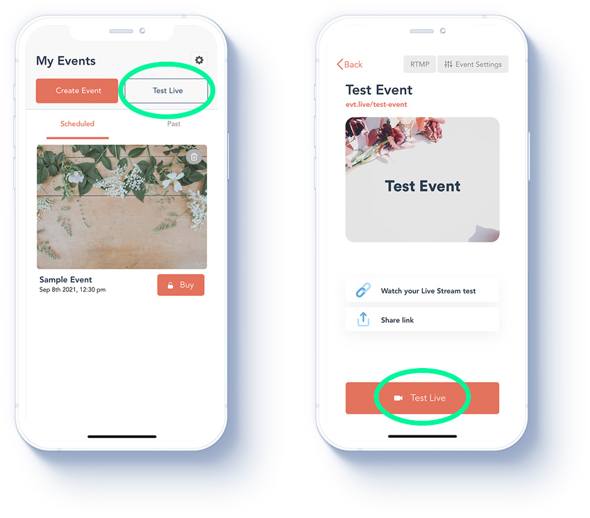 how to use eventlive app