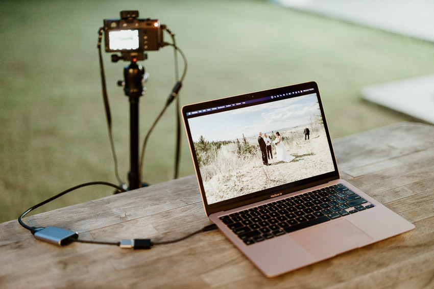 live streaming events with a camera, capture card and a laptop