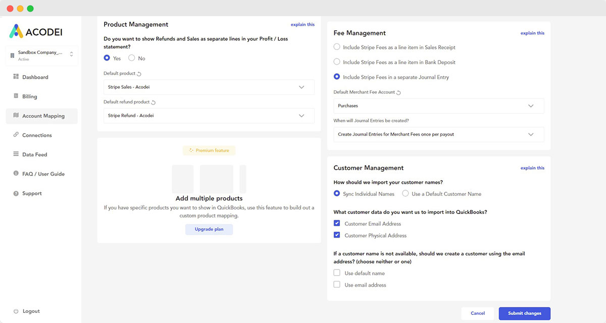 acodei onboarding page