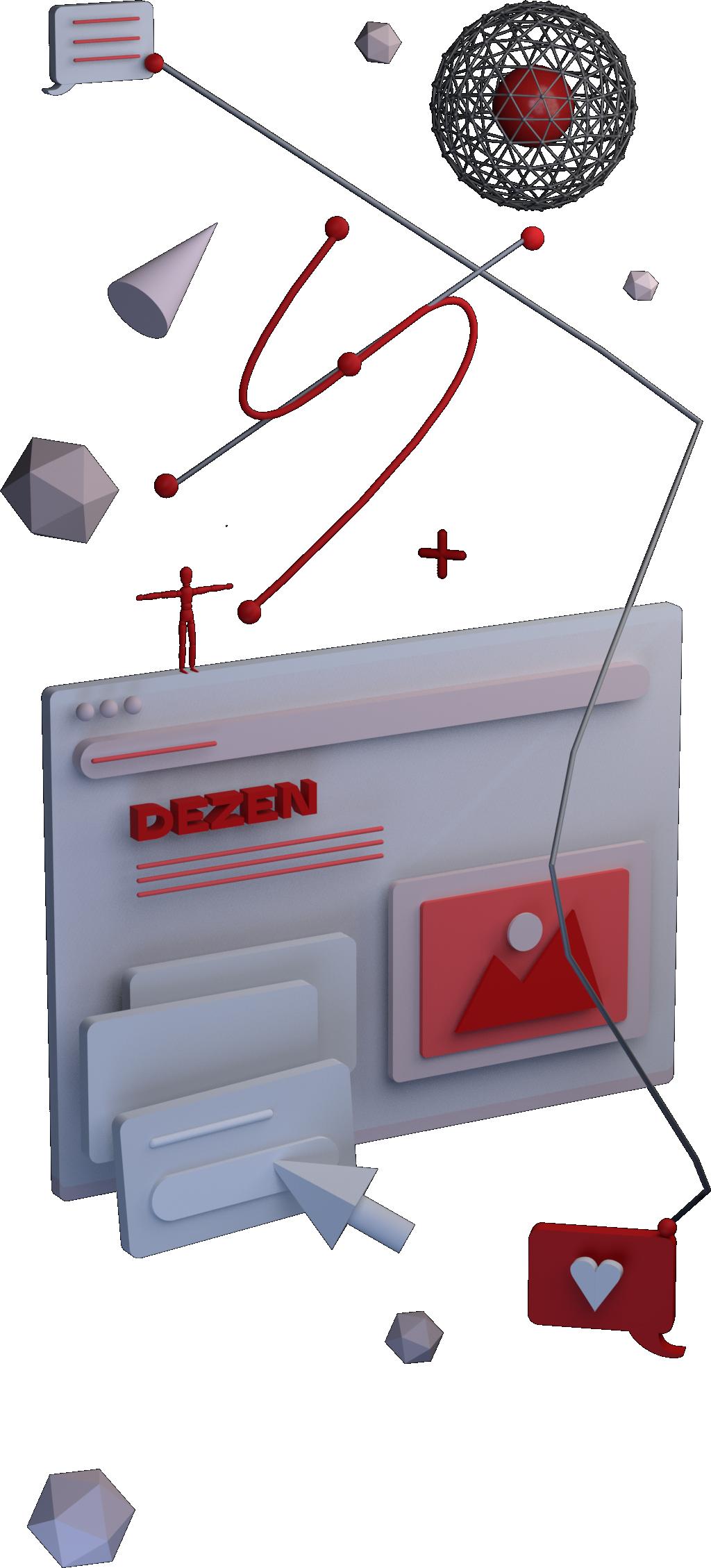 UX/UI 3D model