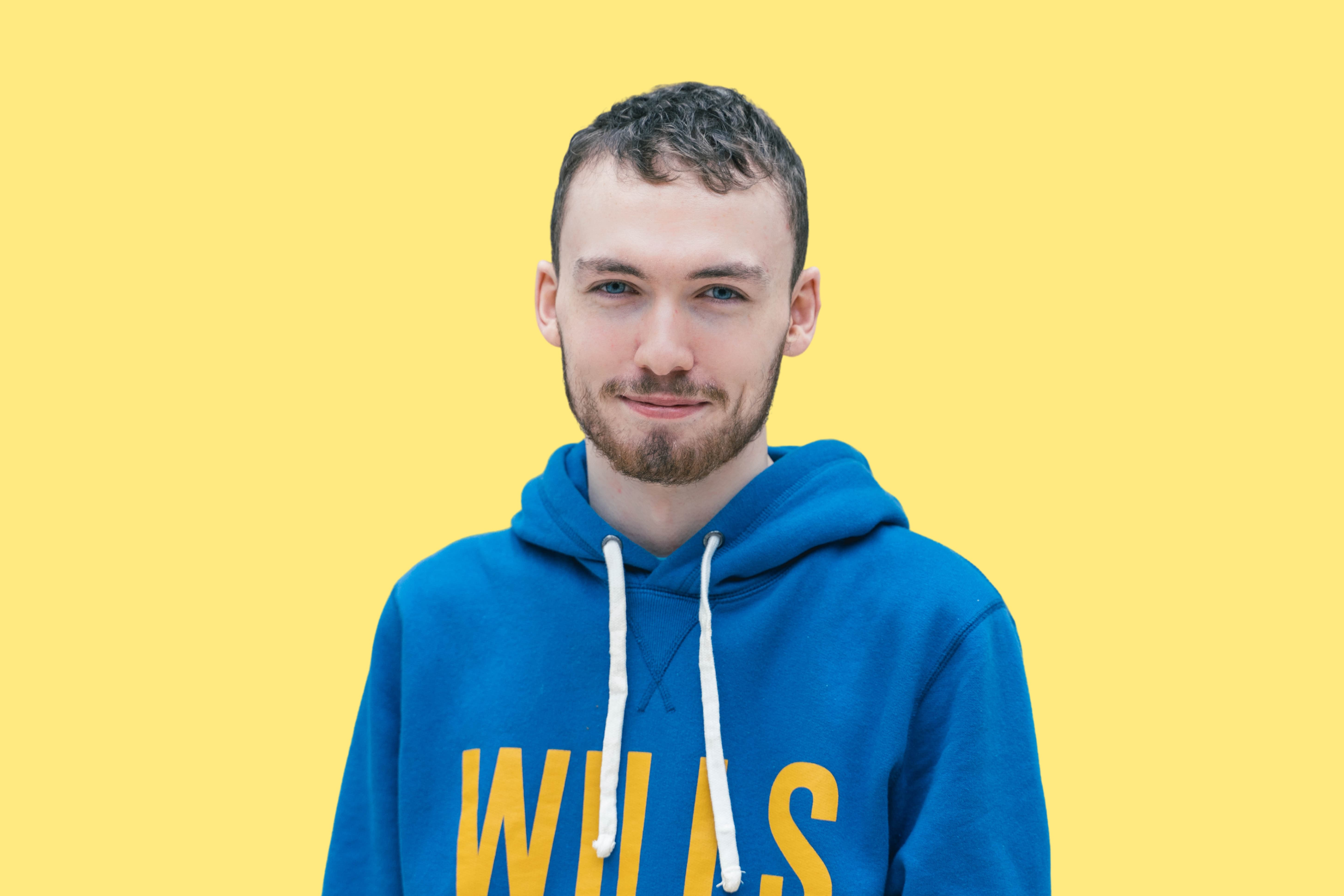 A headshot in colour of one of our software developers at Frankli, Daire Finn