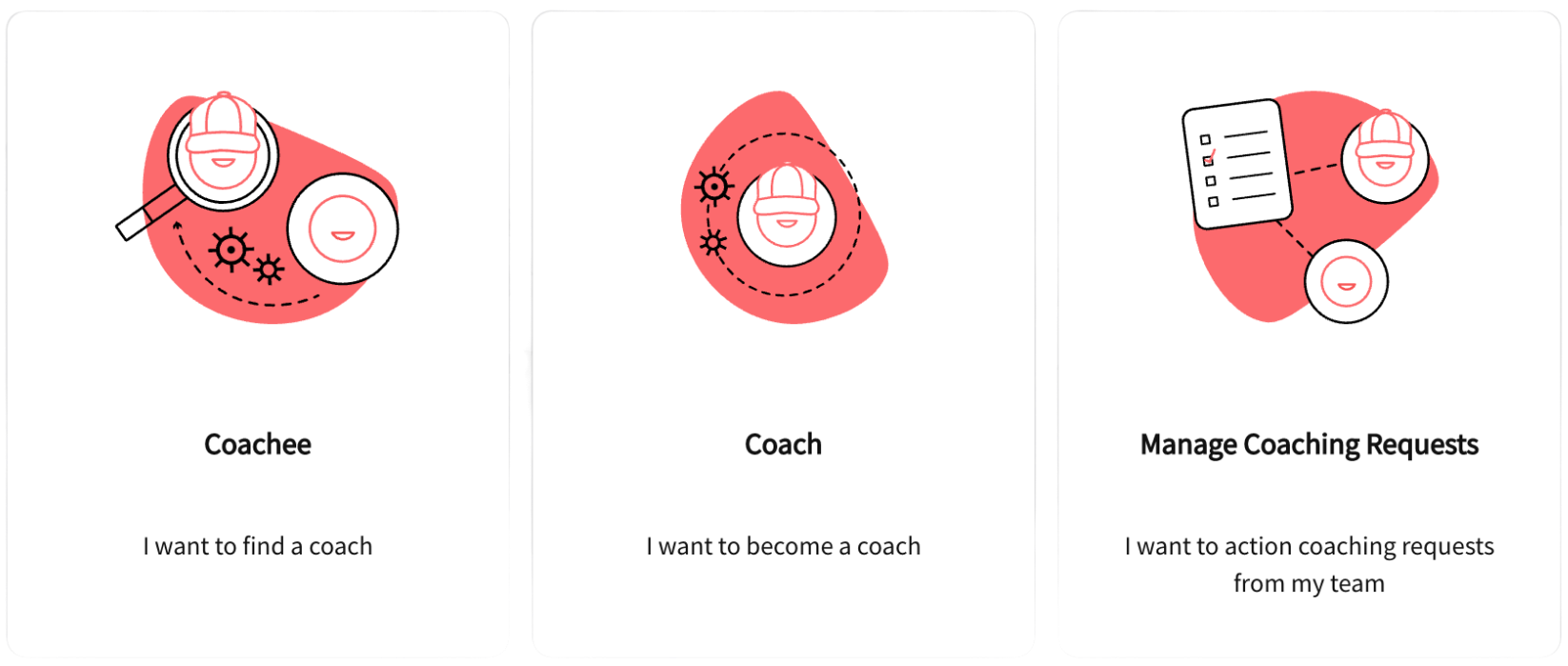 Product screenshot showing coaching functionality available in the frankli platform