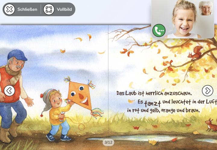Digitale Bilderbücher aussuchen und vorlesen