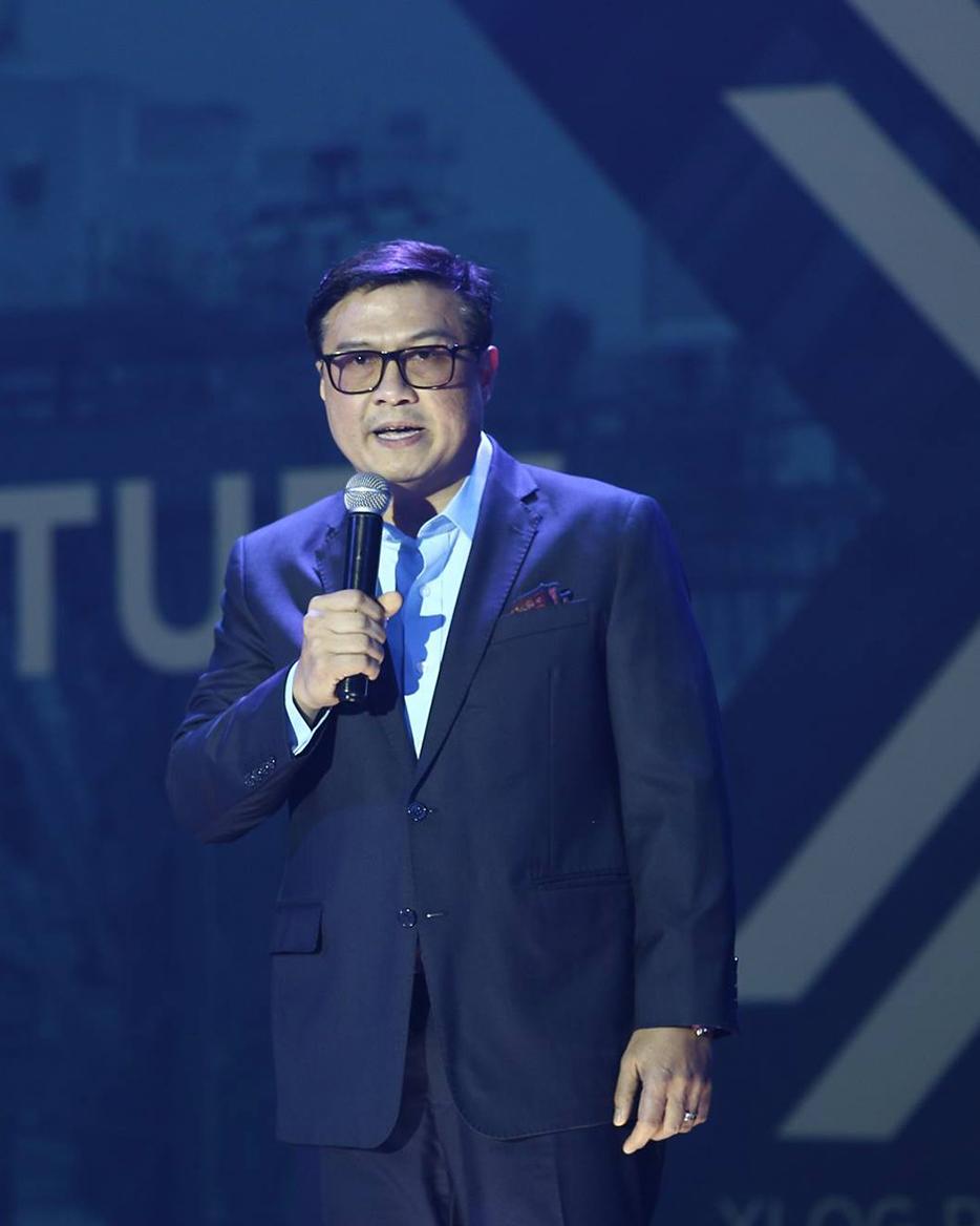 XLOG CEO, Jun Ynion, at the XLOG Launch Event