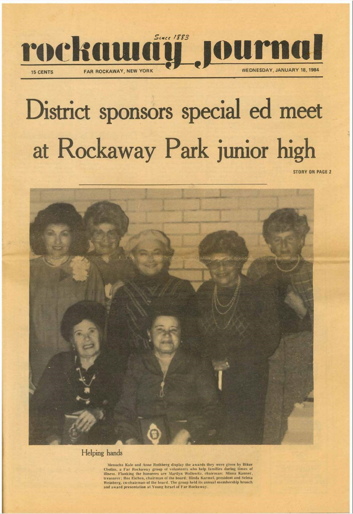 newspaper cutting from rockway journal
