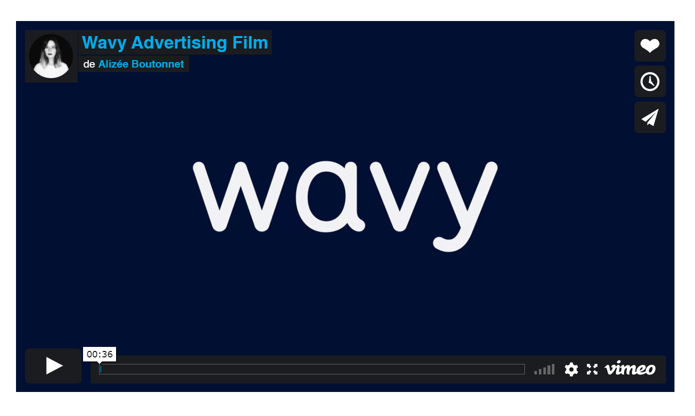 Motion Design pour la publicité Wavy