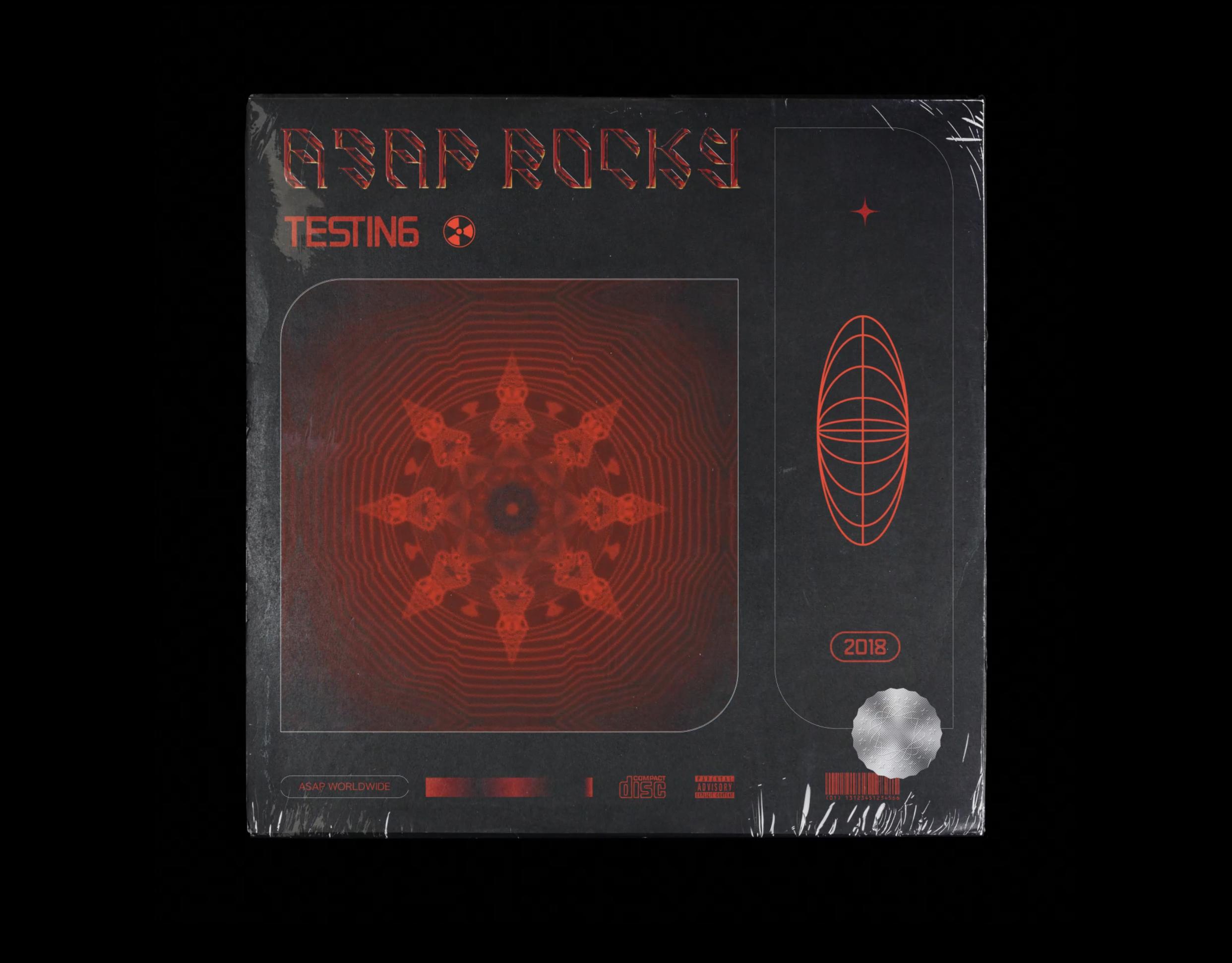"""Création de la pochette d'album """"TESTING"""" de Asap Rocky en motion design"""