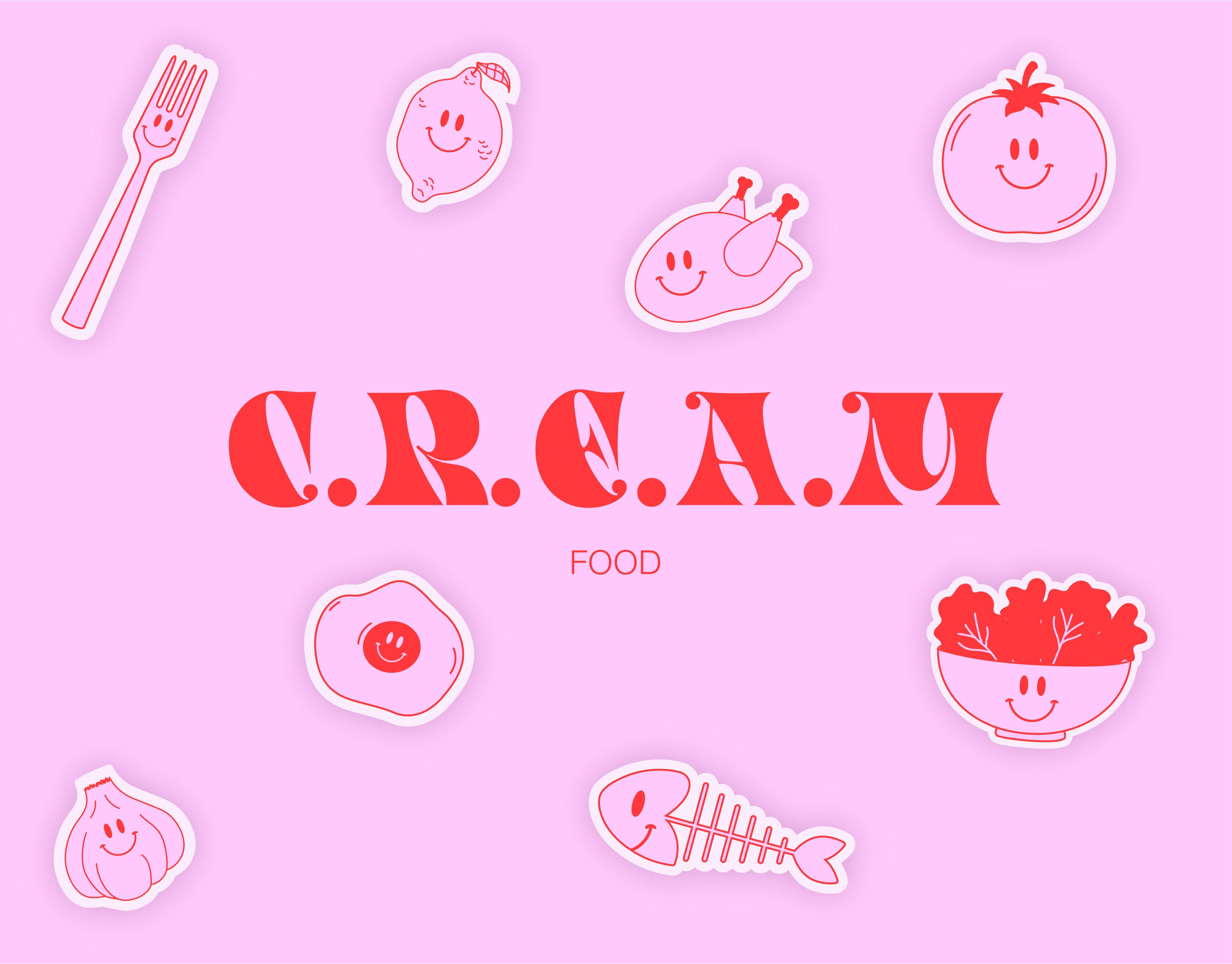 Logo et illustrations de l'identité visuelle C.R.E.A.M