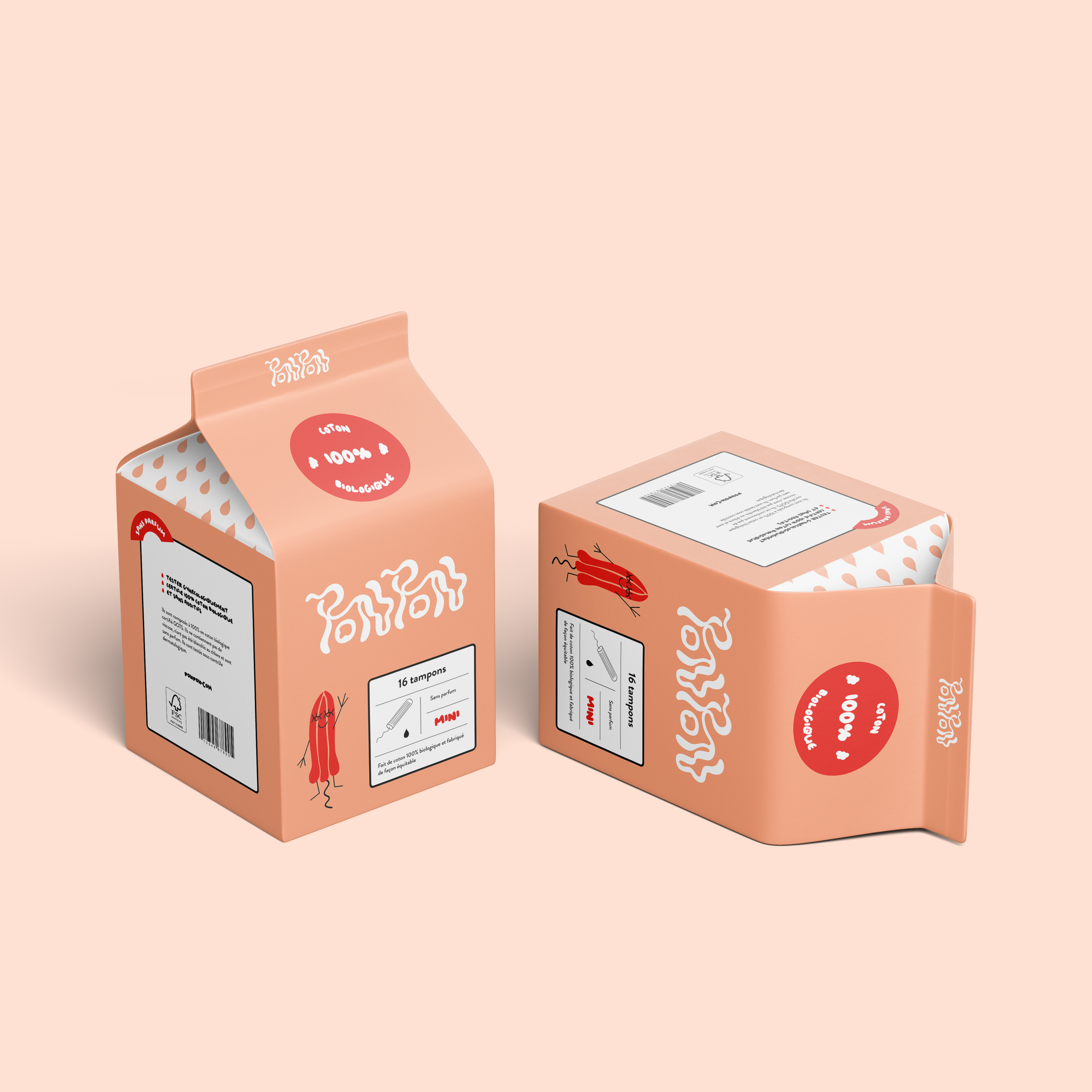 Packaging de l'identité visuelle de Tampon Ponpon