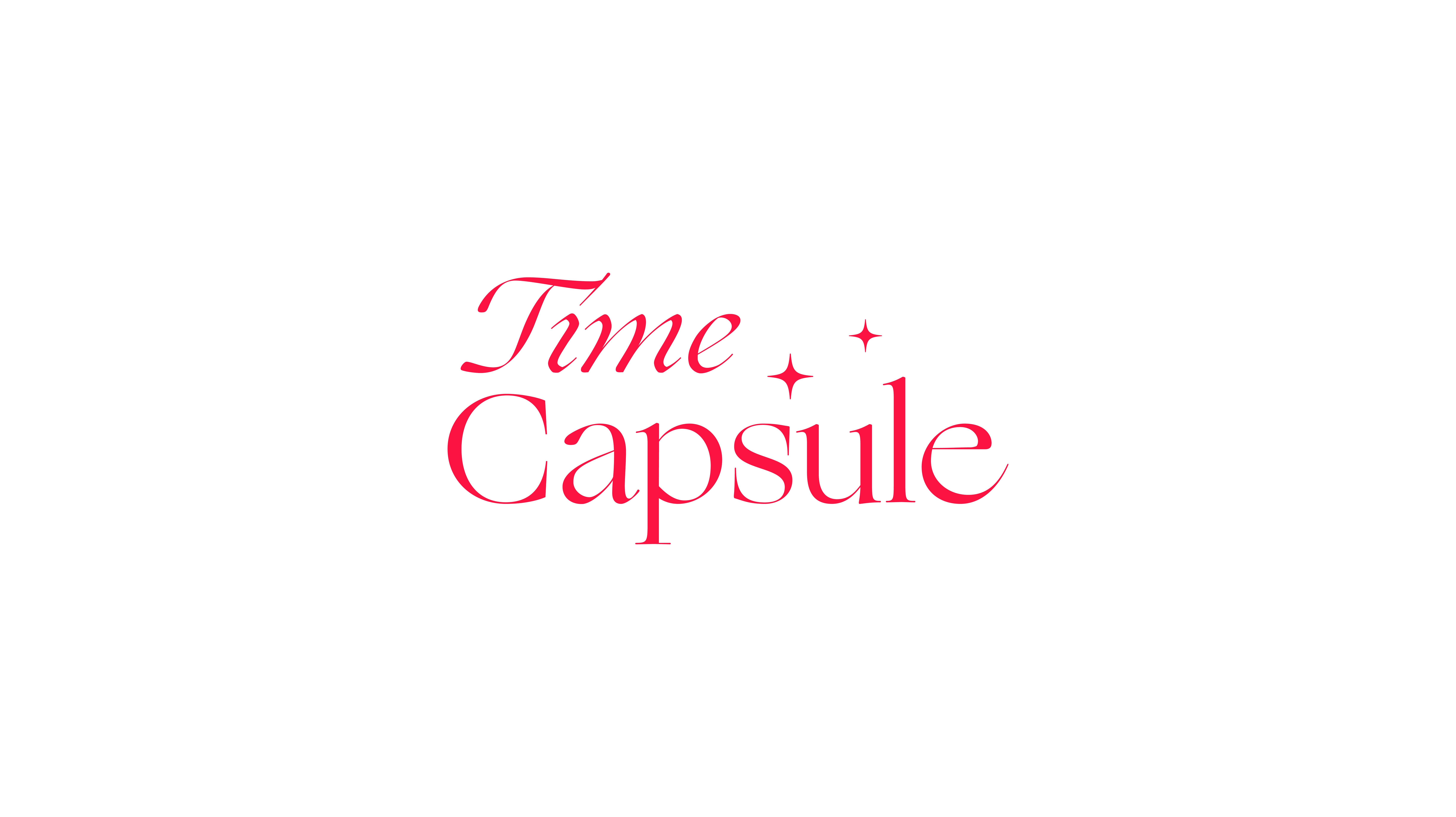 Logo de l'identité visuelle de la friperie vintage Time Capsule