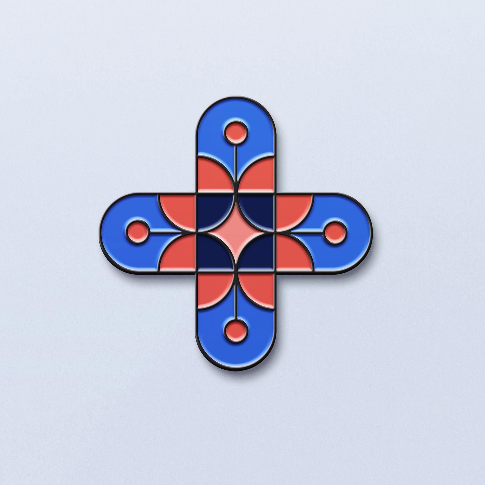 Pins de l'identité visuelle de la marque de bière artisanale Notre Dame