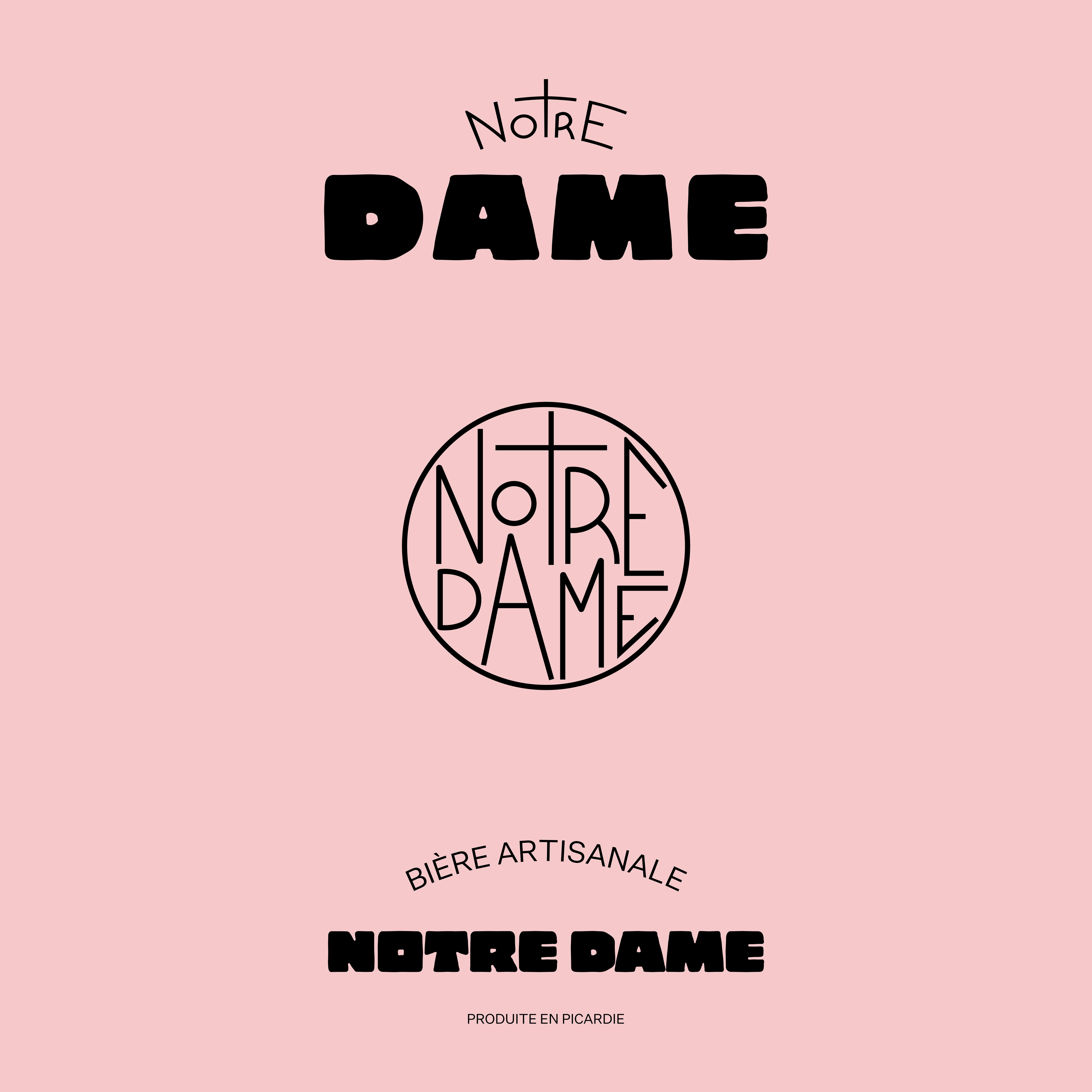 Logo de l'identité visuelle de la marque de bière artisanale Notre Dame