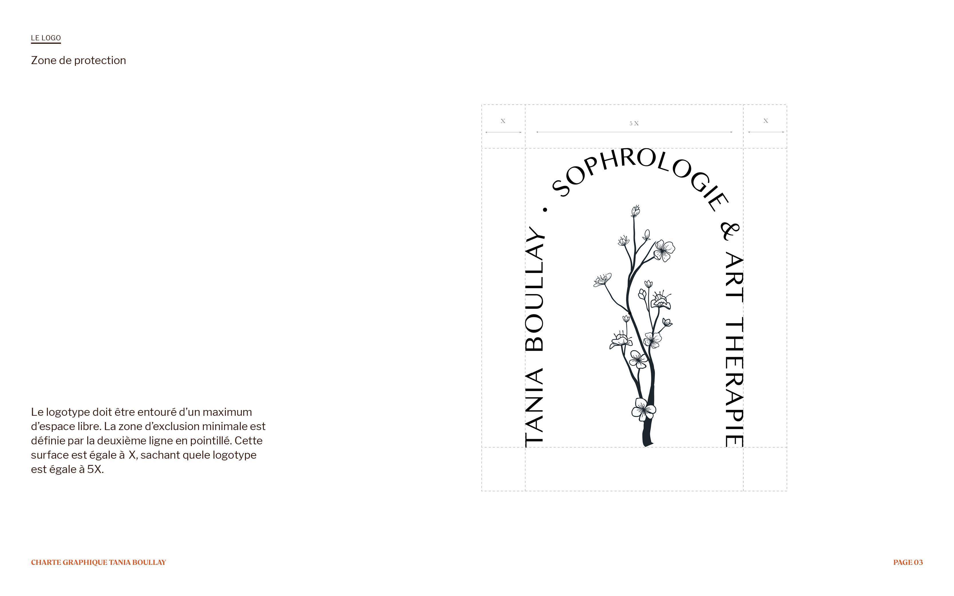Logo de l'identité visuelle de sophrologie et art-thérapie de Tania Boullay