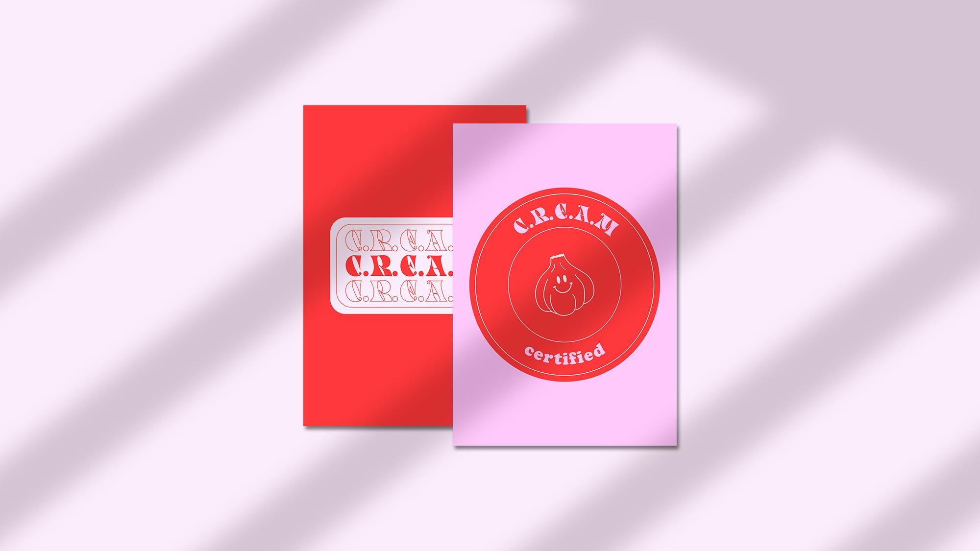 Stickers de l'identité visuelle de l'Instagram de recettes C.R.E.A.M