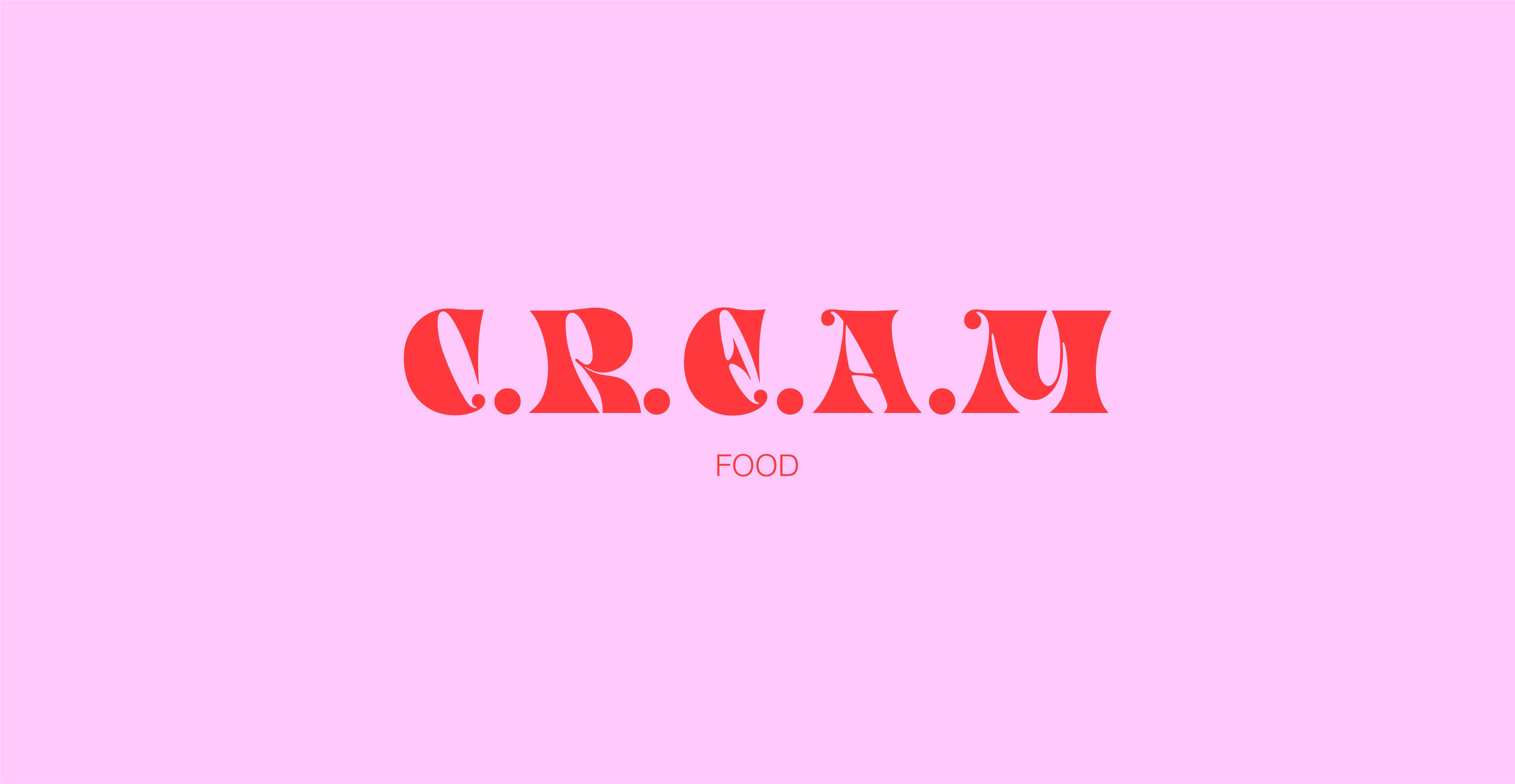 Logo de l'identité visuelle de l'Instagram de recettes C.R.E.A.M