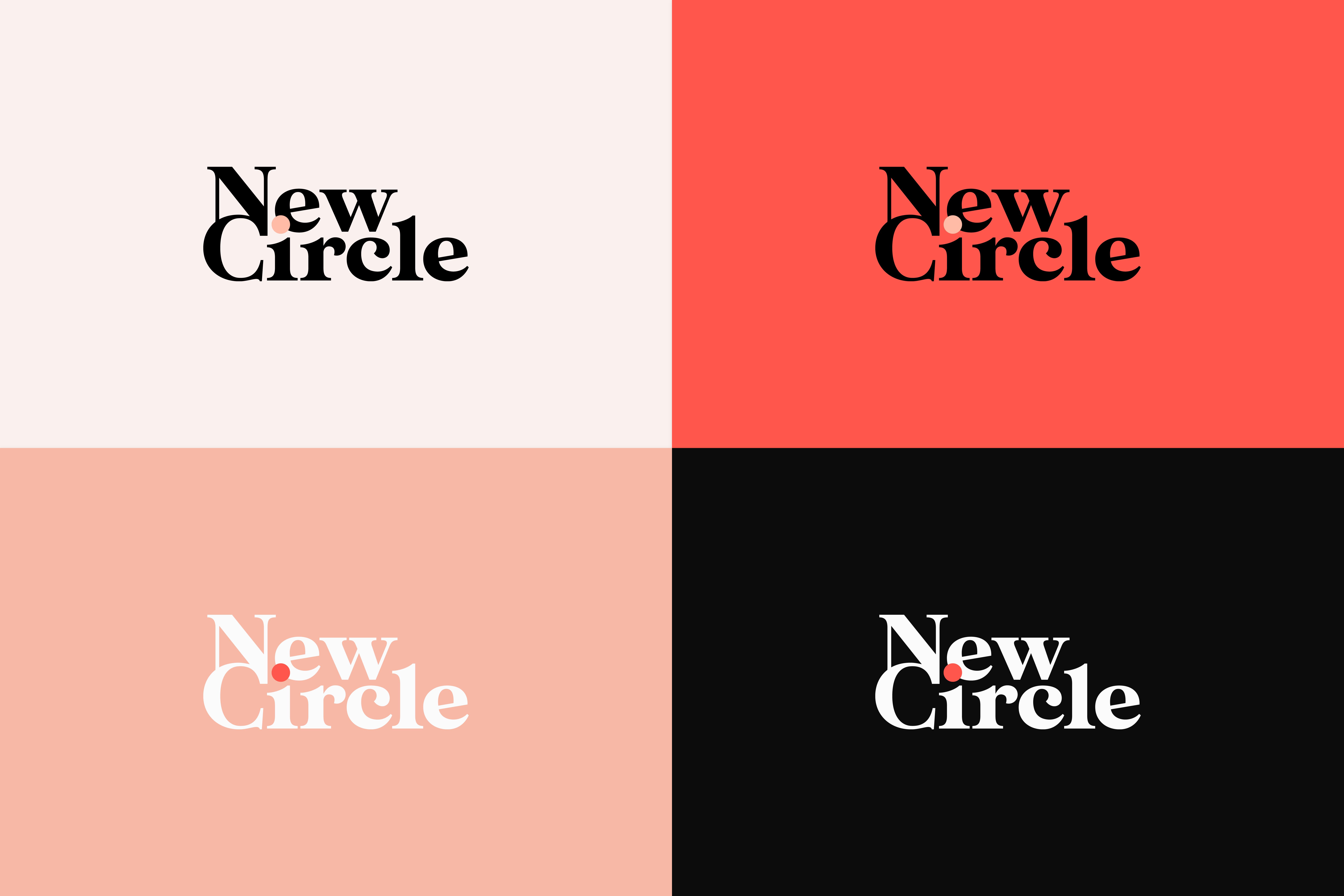 Logo de l'identité visuelle de la plateforme New Circle