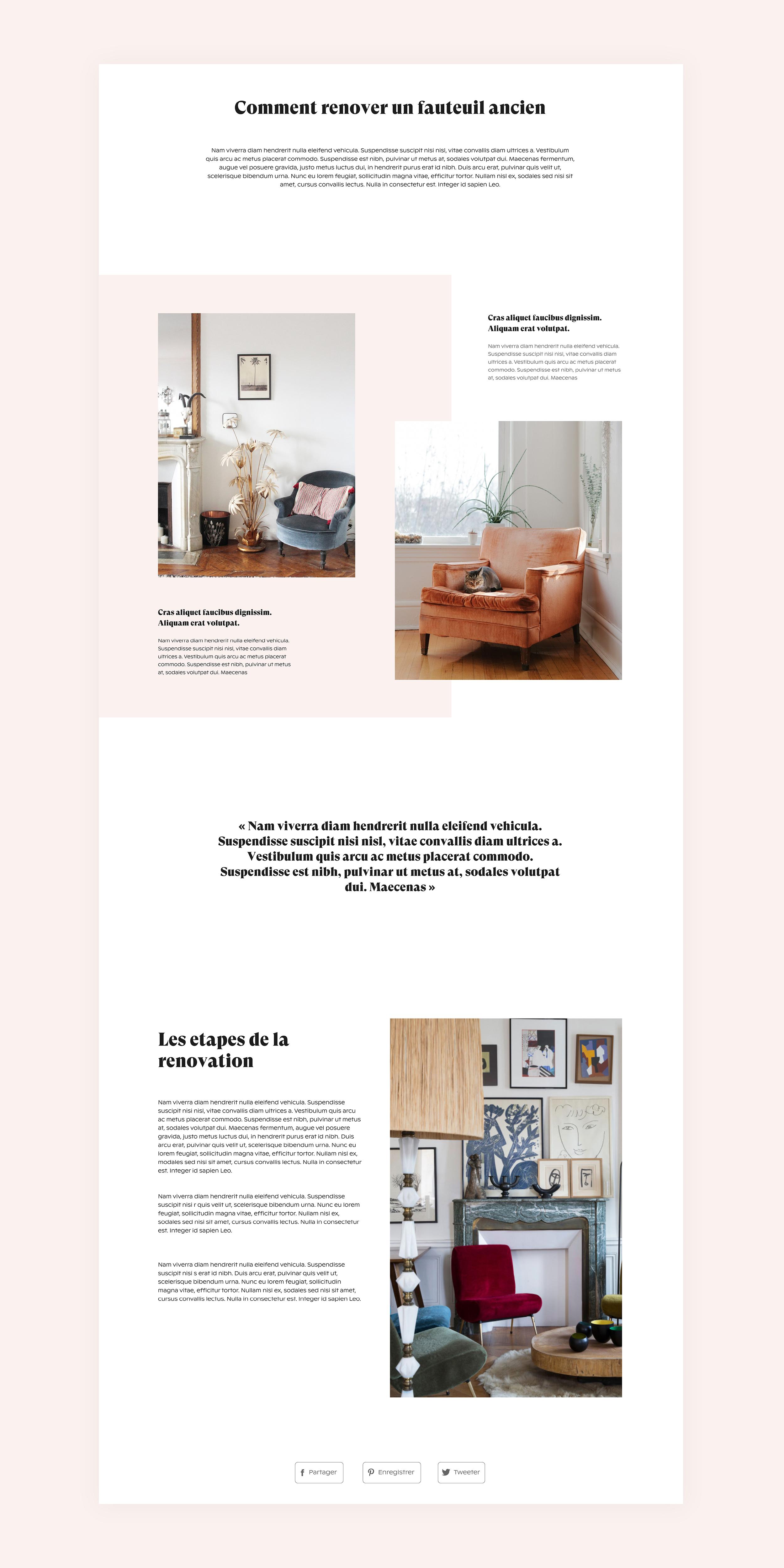 Site internet de l'identité visuelle de la plateforme New Circle