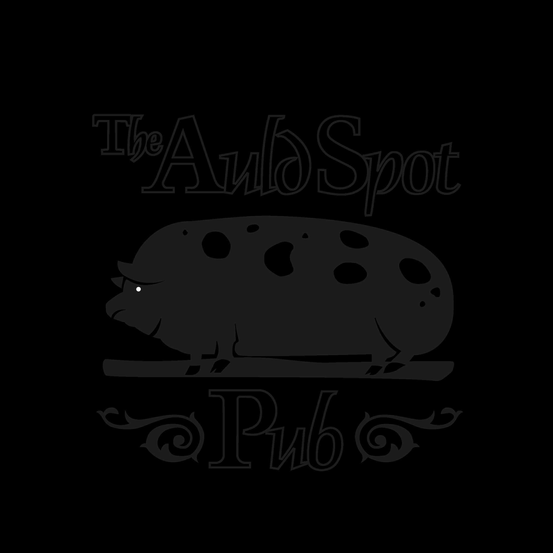 The Auld Spot Pub black and white logo