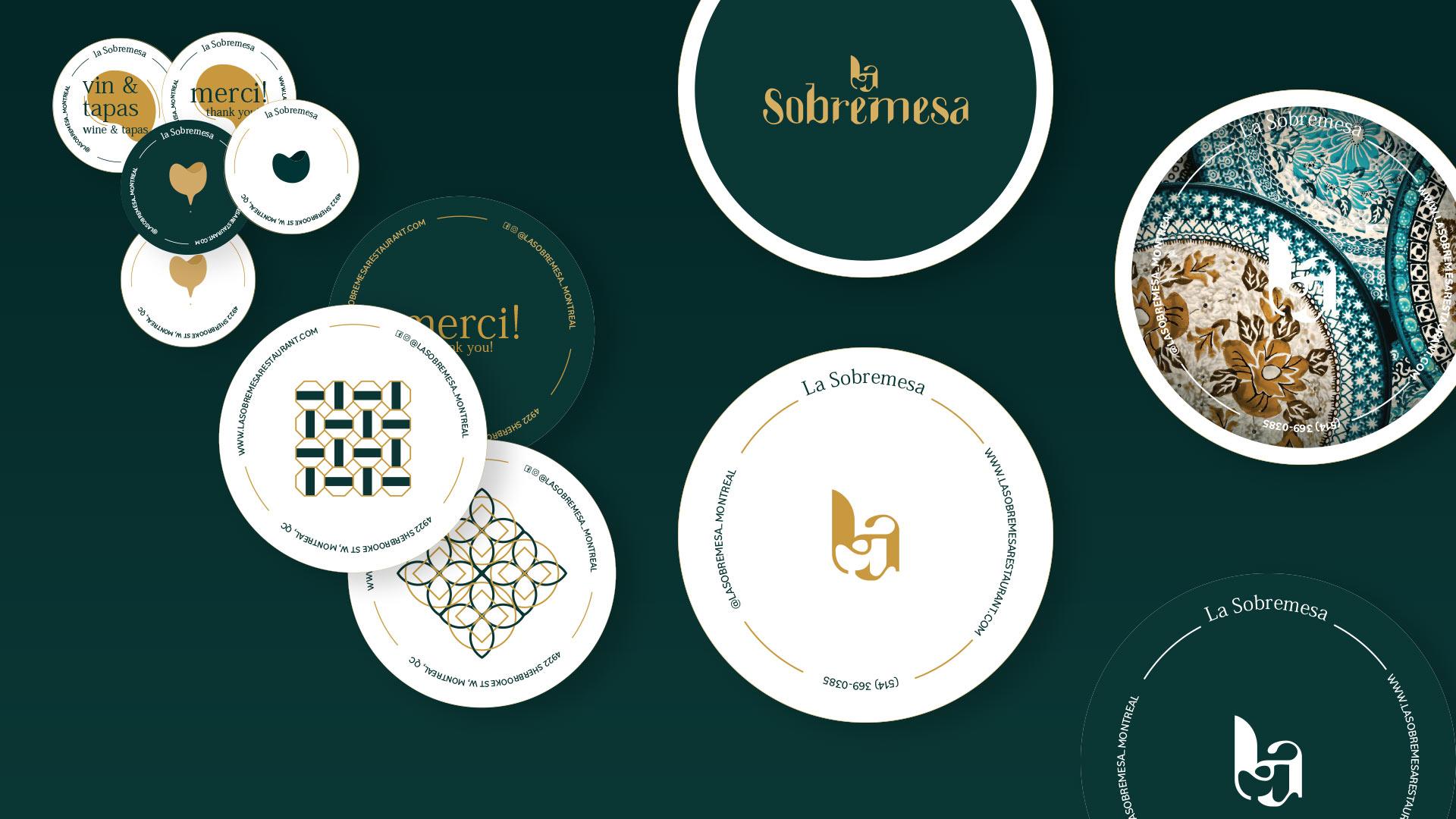 Drink coasters of La Sobremesa restaurant
